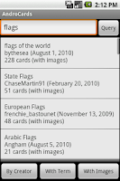 Screenshot of AndroCards Flashcards