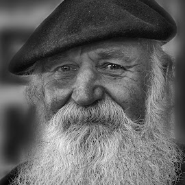 Weathered by Andrew Halpern - People Portraits of Men ( black and white, beard, man, hat, weathered,  )