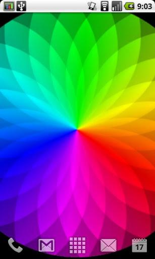 彩虹漩渦 - 現場壁紙