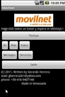 Screenshot of Movilnet Venezuela Postpago