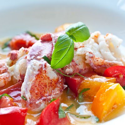 Butter Poached Lobster with Fresh Tomatoes