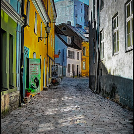 Toompea Street by Fred Coleman - City,  Street & Park  Neighborhoods ( estonia, toompea, street lane, europe, tallin, neighborhood, cobble stone, travel, baltic, alley )