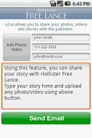 Screenshot of Hollister Free Lance