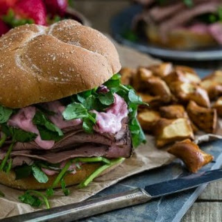 Strawberry Goat Cheese Roast Beef Sandwich