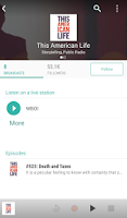 Screenshot of TuneIn Radio Pro