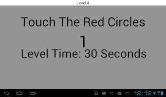 Screenshot of Touch The Red Dots Reflex Test