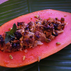 Malaysian Baked Papaya With Ginger