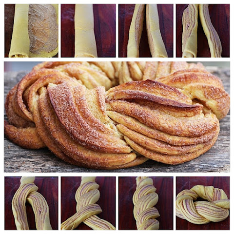 How to DIY Braided Cinnamon Wreath