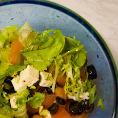 Fruit and Avocado Salad With Honey Nut Dressing
