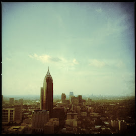 Atlanta Skyline by Wendy Garfinkel-Gold - City,  Street & Park  Skylines ( #atlanta, #georgia, #skyline, #sky, #horizon )