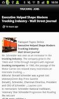 Screenshot of Trucking JOBS