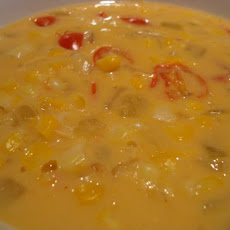 Corn, Cheese and Chili Soup
