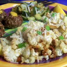 Oven-Roasted Cauliflower With Garlic, Olive Oil and Lemon