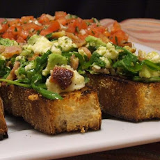 Avocado, Feta and Pancetta Bruschetta
