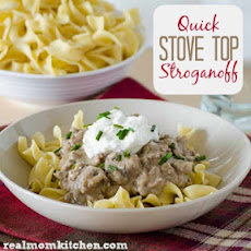 Quick Stove Top Stroganoff
