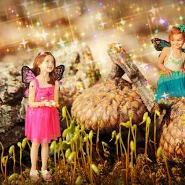 Fairy Magic by Michelle Vinnacombe - Digital Art People ( photoshop art, magic, fairies, fairy tale, nature, fairy, sparkle, glitter, fairytale, photoshop,  )