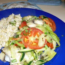 Baked Halibut with Fresh Veg