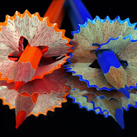 Orange-blue by Asif Bora - Artistic Objects Education Objects ( blue, orange. color,  )