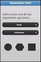 Screenshot of Area y Volumen.Geometria Facil