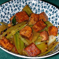 Sherry Tofu and Snow Peas
