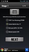 Screenshot of Car Sounds Quiz