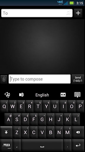 GO Keyboard Black White Theme