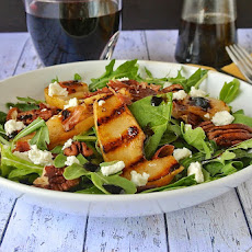 Grilled Pear And Crispy Prosciutto Salad