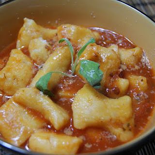 Sweet Potato Gnocchi with Tomato and Basil