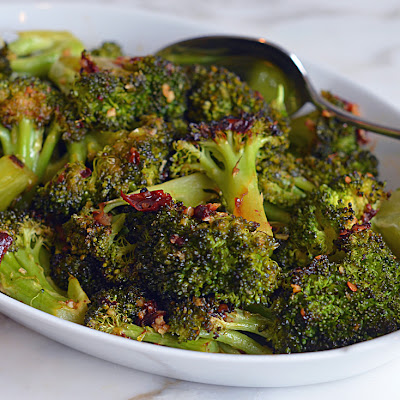 Roasted Broccoli with Chipotle Honey Butter