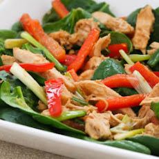 Spinach Salad Recipe with Warm Ginger Vinaigrette