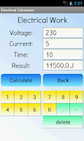 Screenshot of Electrical Calculator