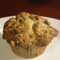 Sour Cherry Muffins With Almond Crumble