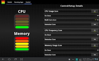 Screenshot of Tablet CPU Usage Monitor