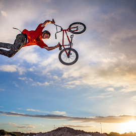 Sunset Session by Hugh-Daniel Grobler - Sports & Fitness Cycling
