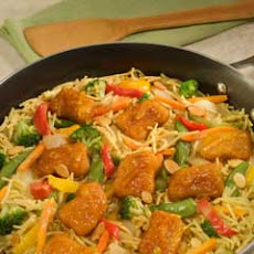 Crispy Orange Chicken Chow Mein