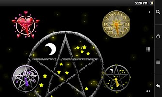 Screenshot of Pentacle Clock Widget