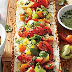 Tomato-Goat Cheese Tart with Lemon-Basil Vinaigrette