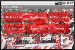 Screenshot of River Plate sing keypad