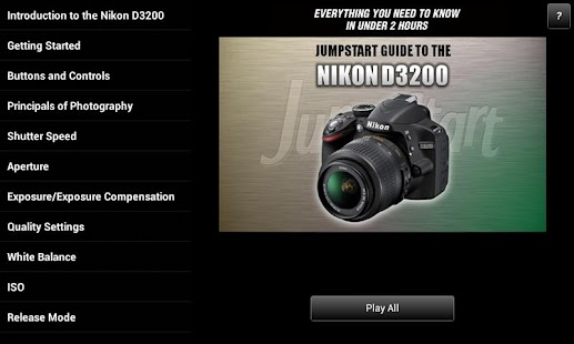 Guide Nikon D3200 - screenshot
