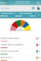 Screenshot of ELECCIONES COLOMBIA 9/3/2014