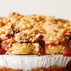 Strawberry Rhubarb Pie with Ginger Crumb Topping Recipe
