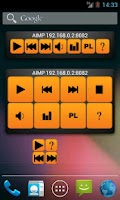 Screenshot of AIMP remote widget