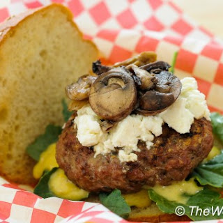 Lamb Burger with Roasted Garlic, Thyme, and Oregano