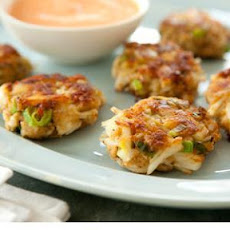 Mini Crab Cakes with Spicy Red Pepper Sauce