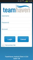 Screenshot of TeamHaven Mobile