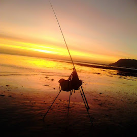 Fishing off the beach this morning knew I shud o bought the camera by Steve Husband - Sports & Fitness Tennis