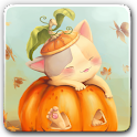Pumpkin Kitten Live Wallpaper icon
