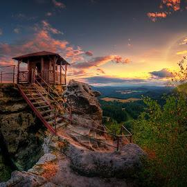 The Home by Karel Pešek - Landscapes Sunsets & Sunrises ( home, mountain, sunset, landscape, evening )