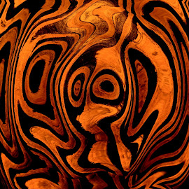 Wooden Bowl by Jody Frankel - Abstract Patterns ( wood, pattern, texture, design )