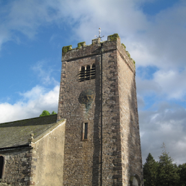 Ravenstonedale Parish Church, Cumbria, UK  by Del Candler - Buildings & Architecture Places of Worship ( ravenstonedale, uk, blue sky, cumbria, church, st. oswald's, stone, anglican )